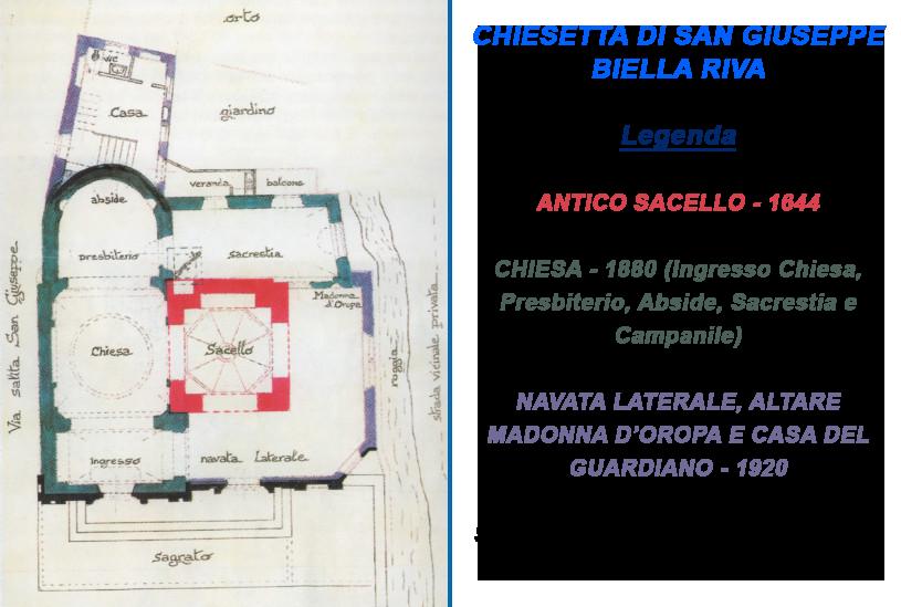 San Giuseppe Biella - Mappa chiesetta