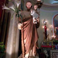San Giuseppe Biella - La pregevole statua di San Giuseppe venerata in chiesa.