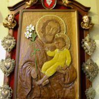 San Giuseppe Biella - Un'icona lignea di San Giuseppe realizzata da un grande amico della Pia Unione