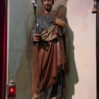 San Giuseppe Biella - Statua di San Giuseppe posta all'ingresso del Sacello