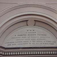 San Giuseppe Biella - La scritta posta sul portone d'ingresso