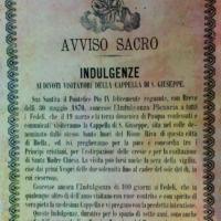 San Giuseppe Biella - Indulgenza ricevuta visitando la Chiesetta