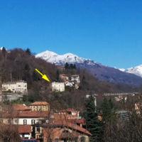 San Giuseppe Biella - Panoramica invernale dal quartiere Riva